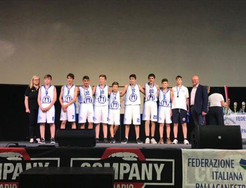 Premiazioni U14 al Gran Galà del basket padovano